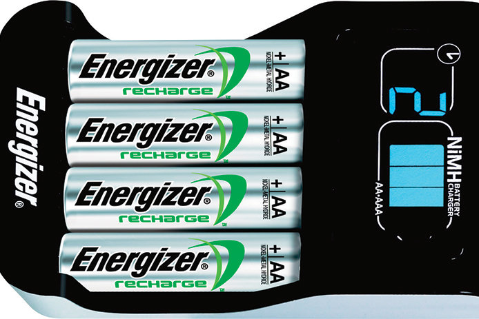 Energizer AA batteries charging